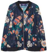 Violeta BY MANGO Sheer printed bomber jacket