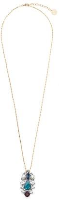 Anton Heunis 'Leaf' Swarovski crystal pearl pendant necklace