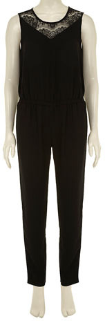 Dorothy Perkins Black luxe + lace jumpsuit