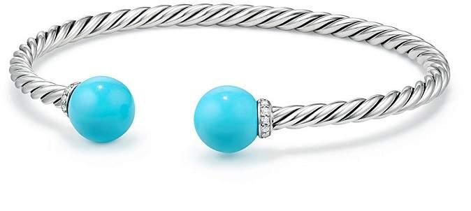 David Yurman Solari Bracelet with Diamonds & Reconstituted Turquoise