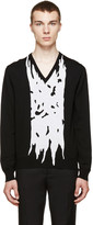 Alexander McQueen Black & White Panel Sweater