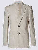 Marks And Spencer Beige Regular Fit Suit