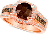 LeVian Le Vian Chocolatier® Smoky Quartz (1 ct. t.w.) and Diamond (3/8 ct. t.w.) Ring in 14k Rose Gold