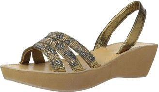 Kenneth Cole Reaction Women's Fine Platform Wedge Slingback Jeweled Sandal