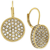 Vince Camuto Gold-Tone Crystal Disc Drop Earrings