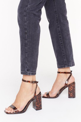 Nasty Gal Womens Tort You Well Tortioseshell Block Heels - brown - 3