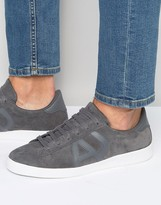 Armani Jeans Suede Logo Trainers