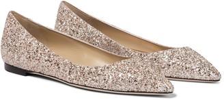 Jimmy Choo Romy glitter ballet flats