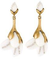 Oscar de la Renta Magnolia Resin & Crystal Flower Earrings