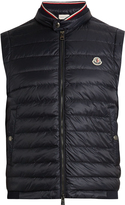 Moncler Maglia cotton-jersey and shell down gilet