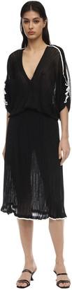 16r Tulipano Ruffled Knit Mini Dress