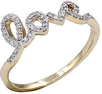 Diana M Fine Jewelry 14K 0.11 Ct. Tw. Diamond Love Ring