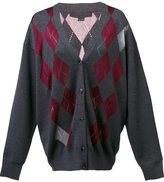 Alexander Wang argyle cardigan with sheer diamonds