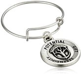 Alex and Ani Unexpected Miracles Expandable Rafaelian Silver Stackable Ring, Size 7-9