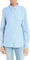 Tibi Women's Gingham Cotton Slim Fit Shirt