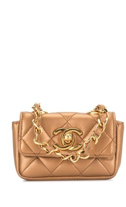 Chanel Pre Owned 1992 Mini Diamond Quilted Tote