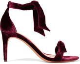 Alexandre Birman Clarita Bow-embellished Velvet Sandals - Burgundy