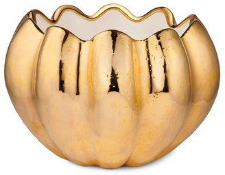 AERIN Mirabelle Metallic Ceramic Cachepot