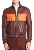 Paul Smith Reversible Shearling-Lined Leather Jacket