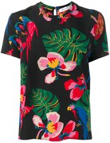 Valentino Tropical Dream T-shirt - women - Silk - XS