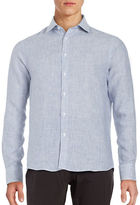 Black Brown 1826 Striped Button Front Sportshirt