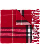 Burberry checked scarf - women - Polyester/Cashmere/Metallic Fibre - One Size