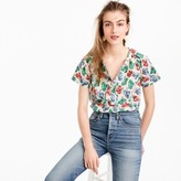 J.Crew Short-sleeve top in hat print