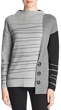Nic+Zoe Asymmetric Toggle Sweater