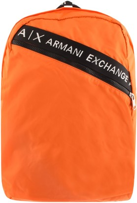 Armani Exchange Logo Backpack Orange