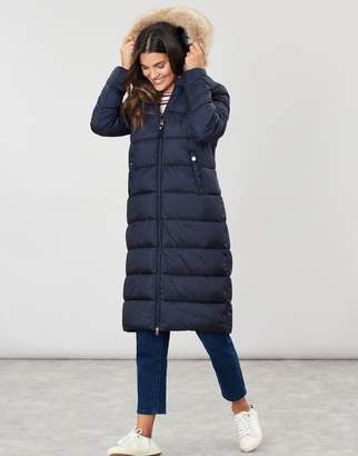 Joules Touchline Padded Hooded Coat With Removable Faux Fur Trim