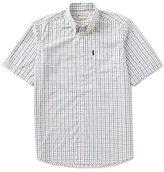 Beretta Non-Iron Drip Dry Short-Sleeve Checked Woven Shirt