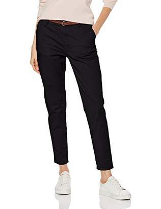 Scotch & Soda Maison Women's Regular Fit' Chino, Sold with A Belt Trouser, (Black 08), W26/L32 (Size: 26/32)