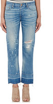 NSF Women's Distressed Crop Jeans-BLUE