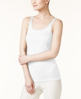 Eileen Fisher SYSTEM SYSTEM Solid Scoop-Neck Tank Top, Regular & Petite