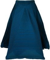 Issey Miyake flared midi skirt