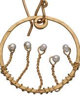Pearl Web Hoop Earrings