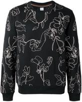 Paul Smith floral embroidery sweatshirt - men - Cotton - XS