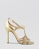 Ivanka Trump Evening Sandals - Herly Shiny Strappy High Heel