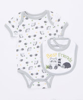 Buster Brown High Rise 'I'm a Wild One' Two-Piece Bodysuit & Bib