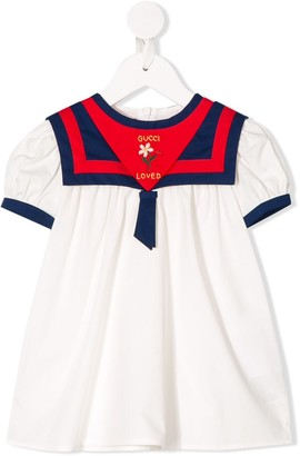 Gucci Kids Floral Embroidery Dress