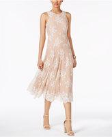 Betsey Johnson Floral-Lace Midi Dress