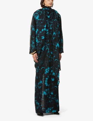 Dries Van Noten Floral-print silk maxi dress