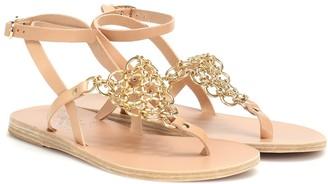 Ancient Greek Sandals Arta embellished leather sandals