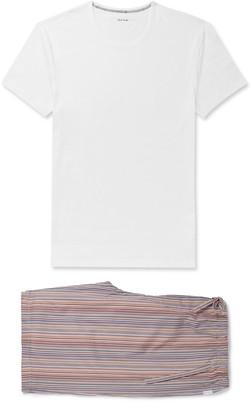 Paul Smith Striped Cotton Pyjama Set - White