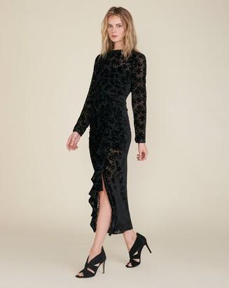 Veronica Beard Lala Burnout Velvet Dress
