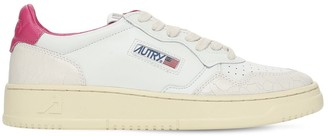 AUTRY Crackled Leather Low Sneakers