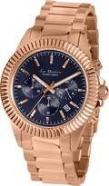 Jacques Lemans Women's 42mm Gold-Tone Steel Bracelet & Case Quartz Dial Chronograph Watch LP-111P