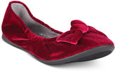 Nina Karla Velvet Ballet Flats, Little Girls (11-3) and Big Girls (3.5-7)