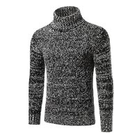 Mada Men's Turtleneck Slim Fit Sweaters Warm Casual Knitted Pullover Asian X-Large