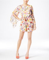 Thalia Sodi Floral-Print Bell-Sleeve Romper, Only at Macy's